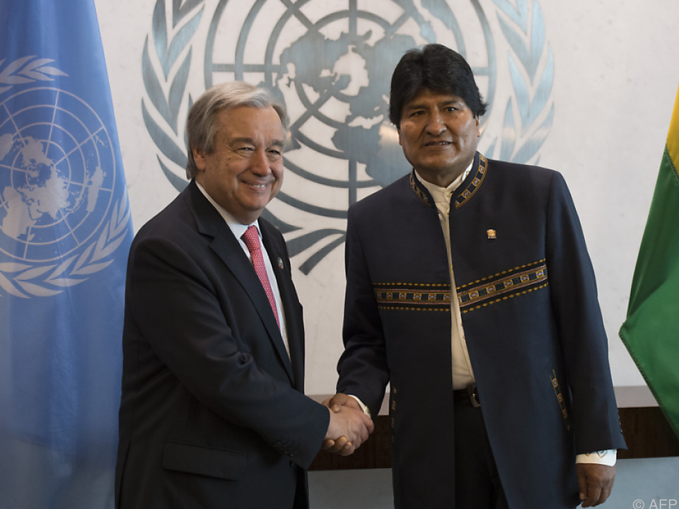 Guterres und Morales in New York