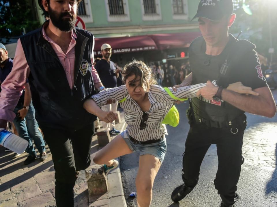 In Istanbul ging die Polizei gegen Aktivisten vor