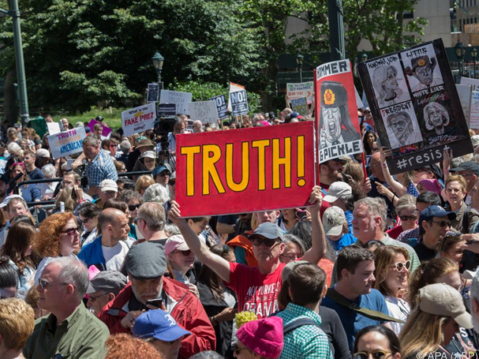 In New York beteiligten sich am Samstag rund 3.000 Menschen