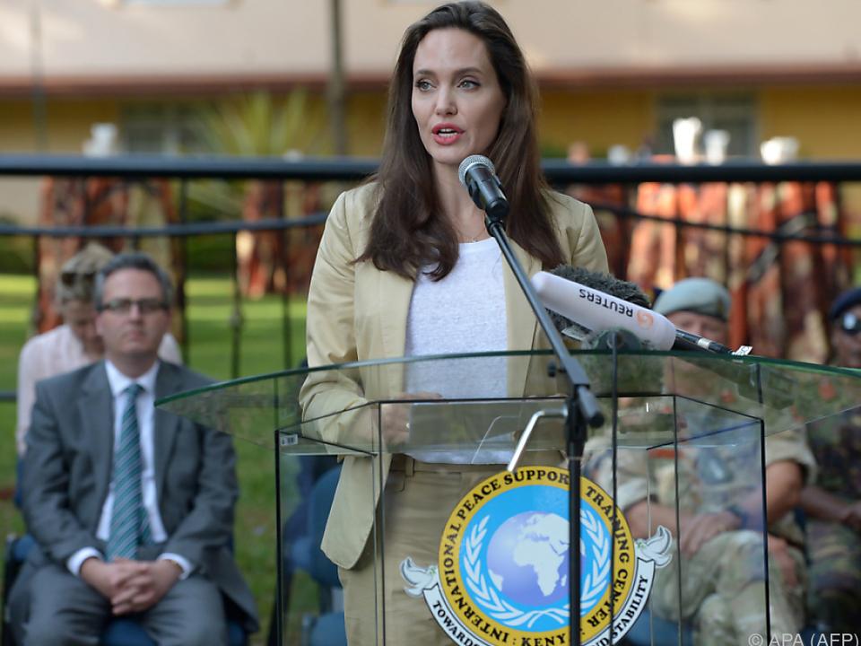 Jolie forderte Unterstützung ein