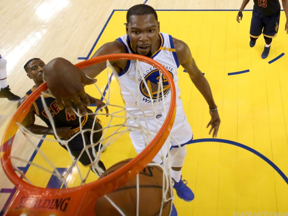 Kevin Durant war der Top-Scorer für die Warriors
