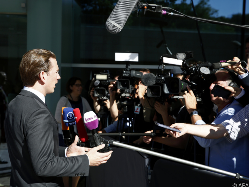 Kurz beim EU-Ministerrat in Luxemburg