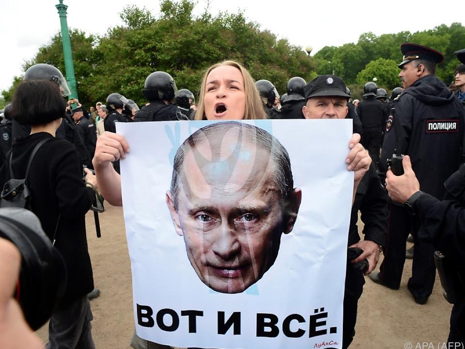 Nawalny hatte zu Protesten gegen die Korruption aufgerufen