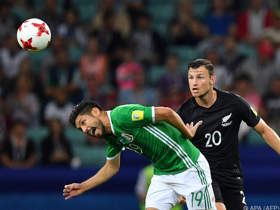 Mexiko nach 2:1 gegen Neuseeland Confed-Cup-Gruppenführender