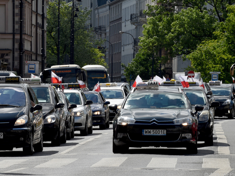 Polens Taxler sind über die Uber-Konkurrenz nicht sehr erfreut