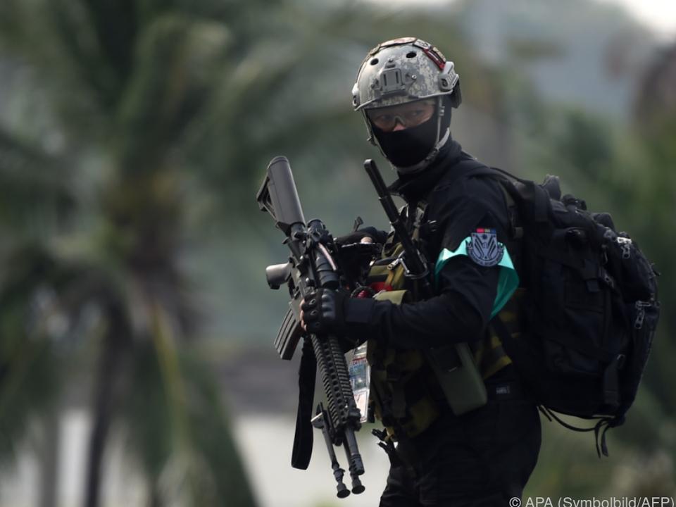 Polizei mit starkem Aufgebot vor Ort
