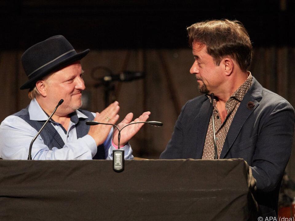 Preisträger Axel Prahl und Jan Josef Liefers