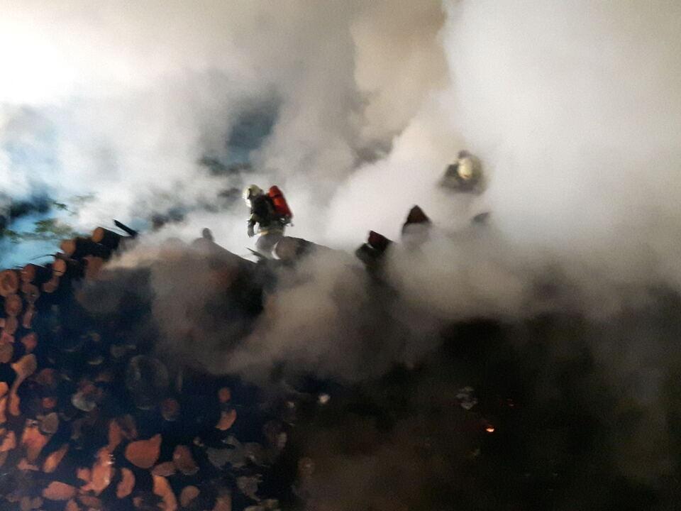 Brand Holz Lajen Freiwillige Feuerwehr Klausen