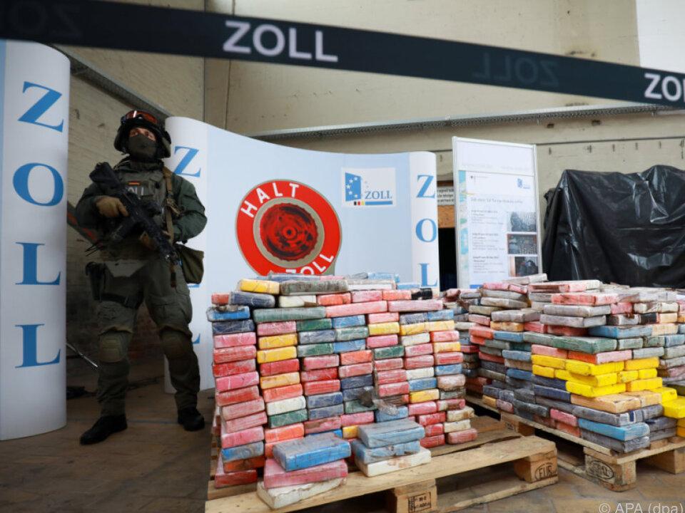 3,8 Tonnen Kokain konnten sichergestellt werden