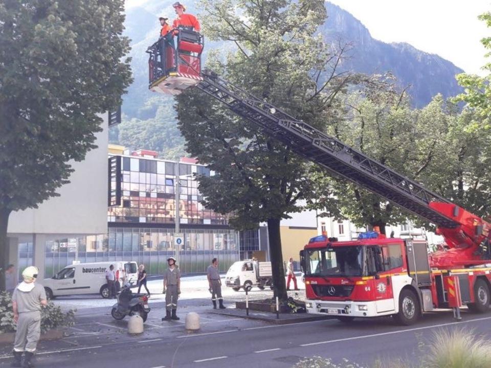 Gewitter Feuerwehr Bozen
