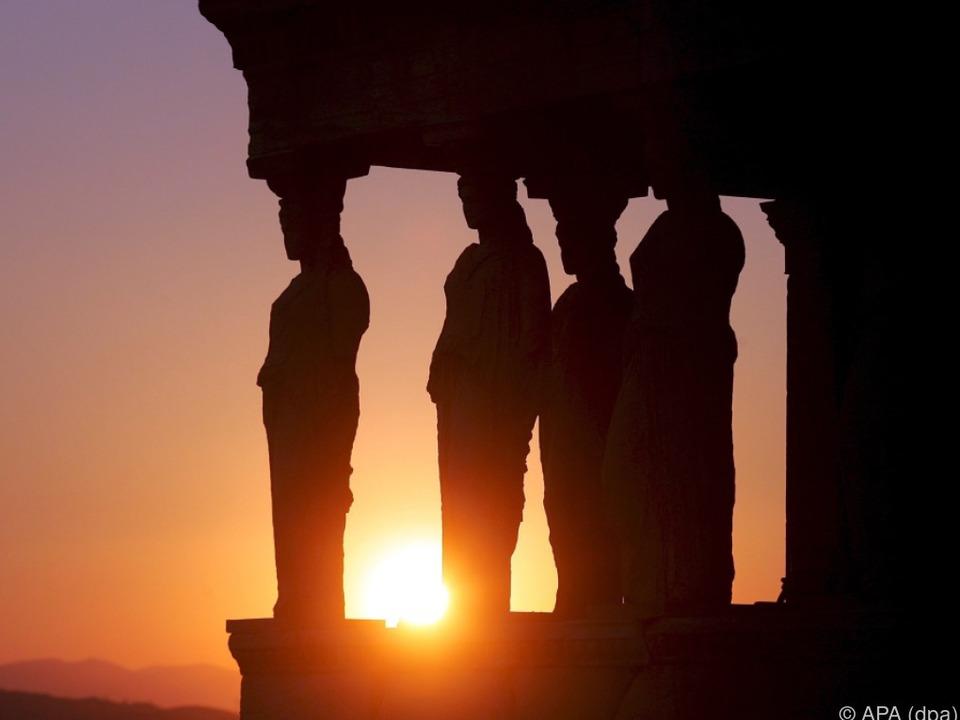 Akropolis statt Meerjungfrau athen griechenland