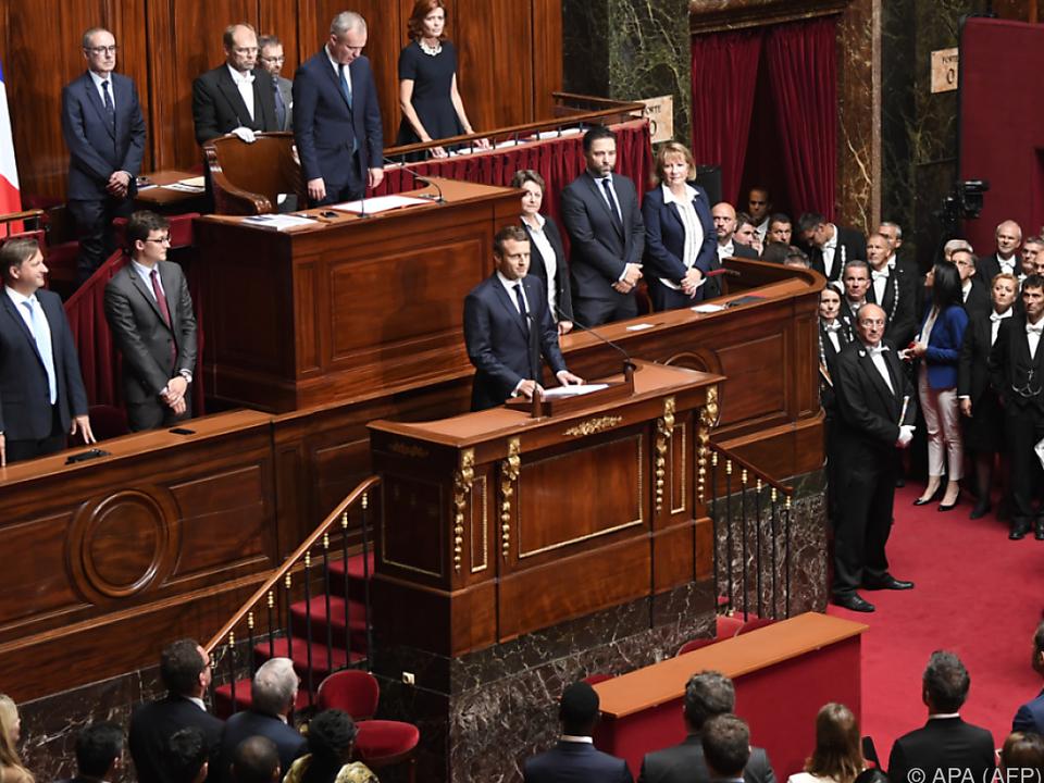 Ansprache von Macron vor französischem Kongress
