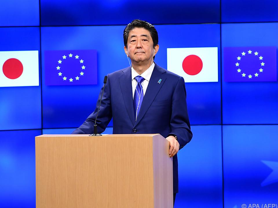 Auch Japans Premierminister Shinzo Abe hofft auf den Abschluss