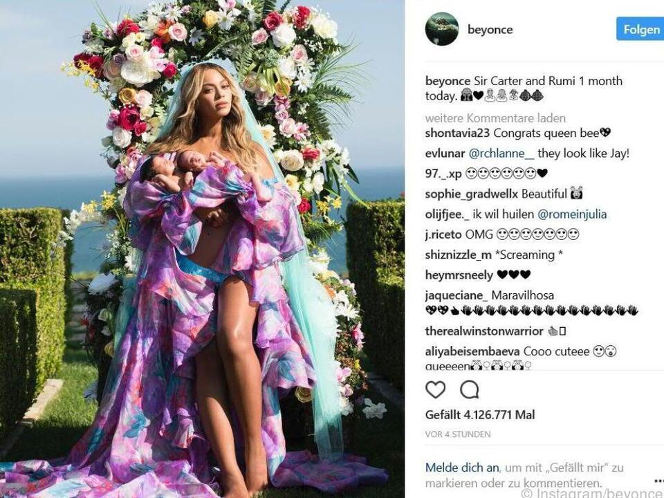 Beyonce teilt erstmals Foto ihrer Zwillinge auf Instagram