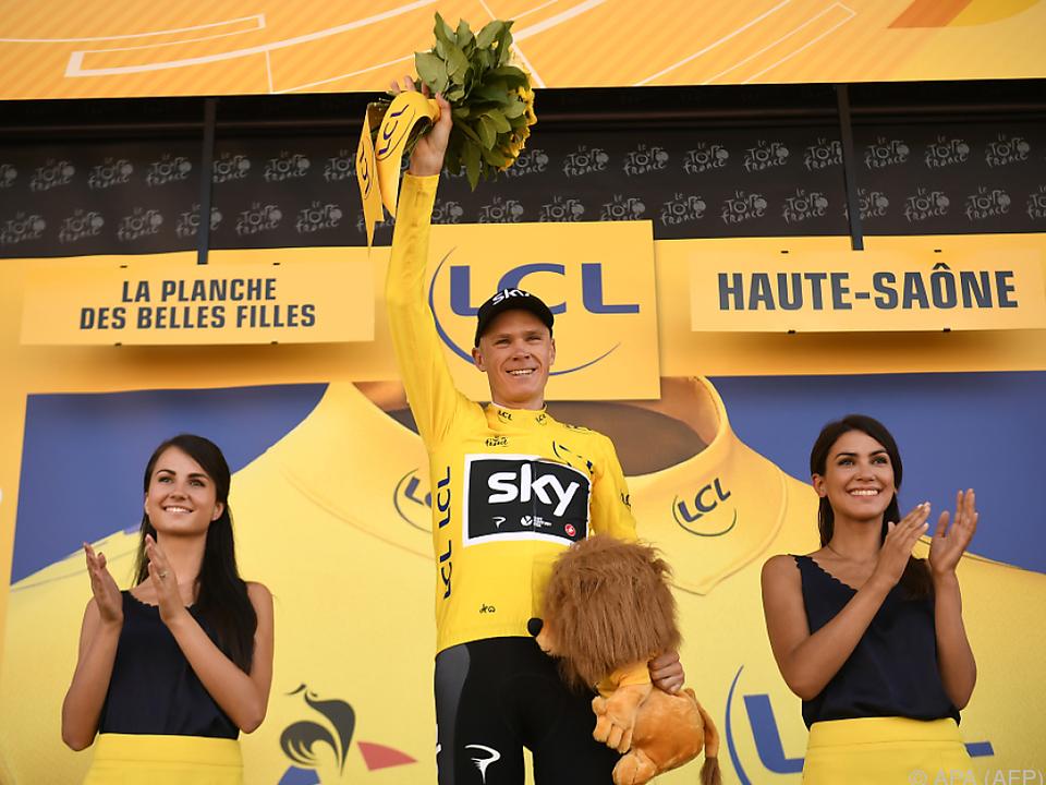 Chris Froome neuer Führender in der Tour-Gesamtwertung