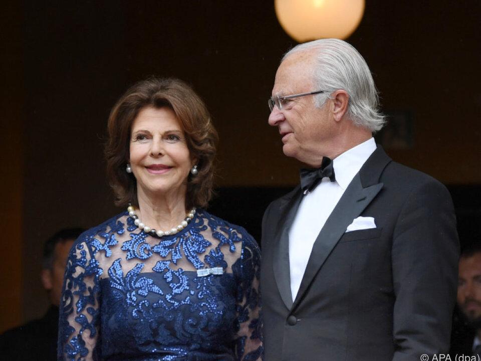Das Königspaar wurde herzlich empfangen