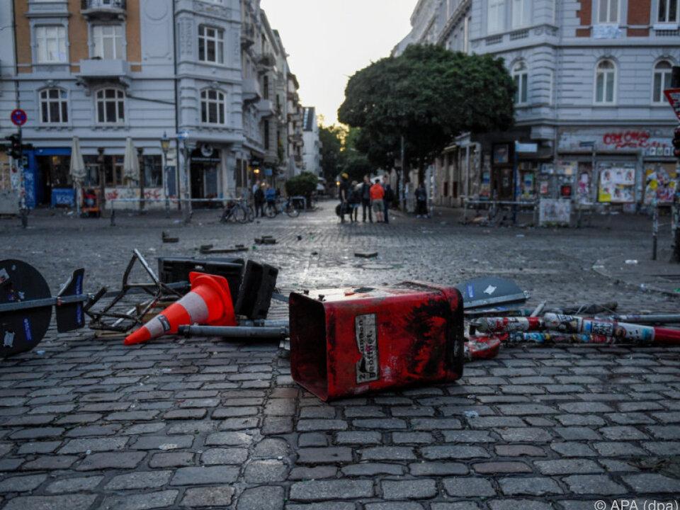 G20: Nach G20-Ende: Neue Zusammenstöße in Hamburg
