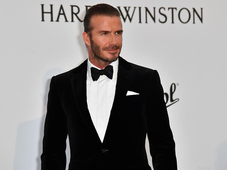 David Beckham braucht selbst nicht lange im Bad