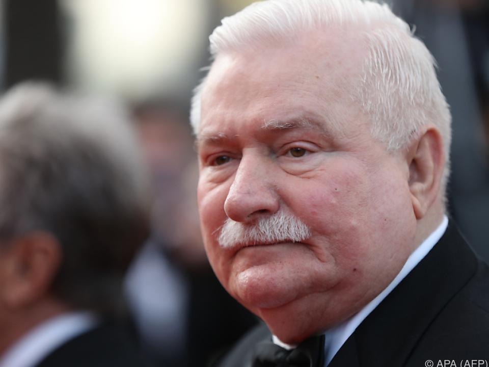 Der frühere polnische Präsident Lech Walesa