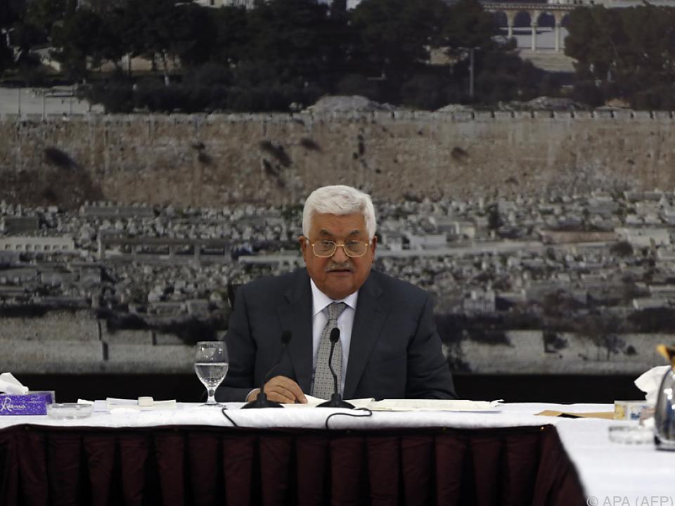 Der palästinensische Präsident Mahmoud Abbas