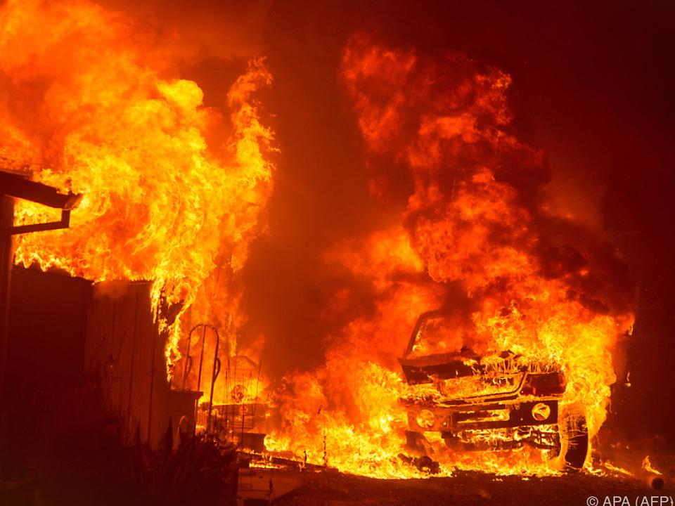 Die Flammen wüten in Kalifornien