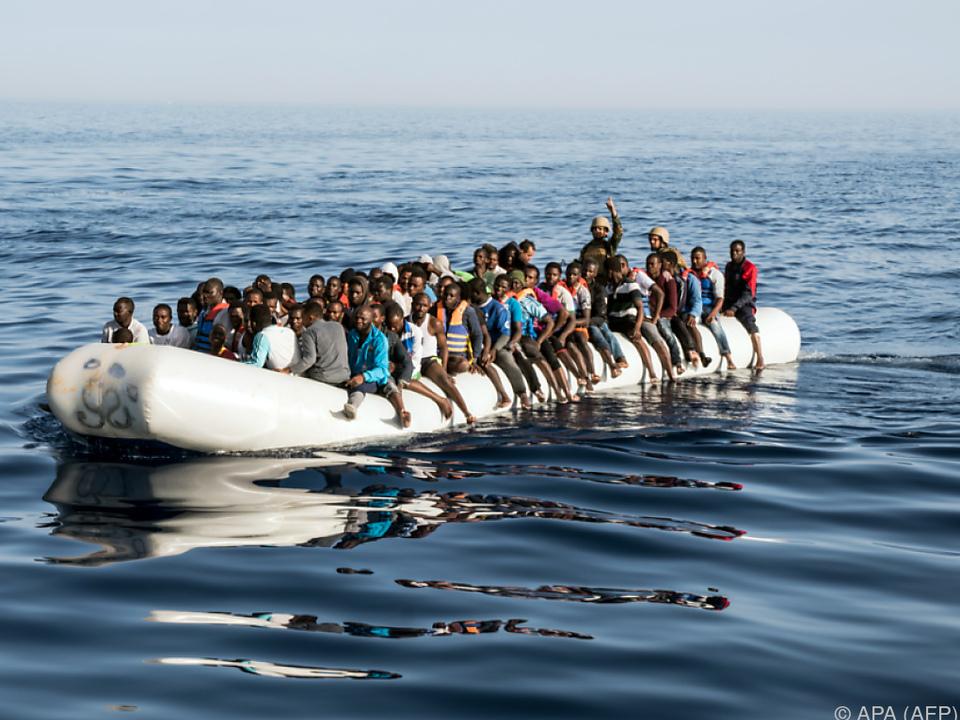 Die meisten Flüchtlinge, die über den Seeweg kommen, landen in Italien