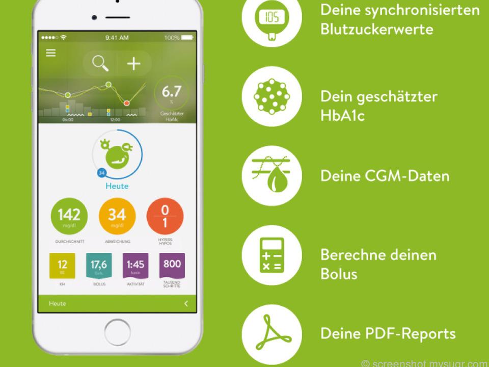 Die mySugr App hilft Diabetikern dabei die Krankheit zu dokumentieren
