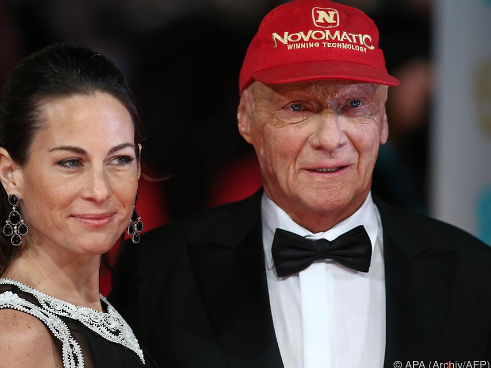 Ehepaar Lauda unterstützt sich