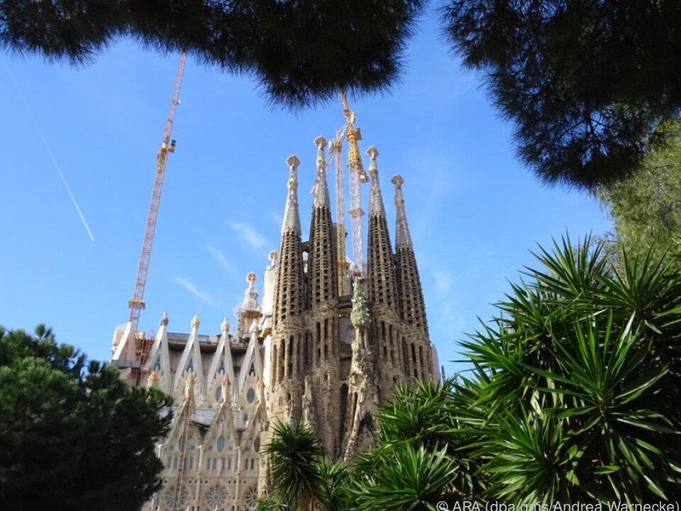 Ein Rahmen aus Kiefernnadeln bringt die Kathedrale besser zur Geltung