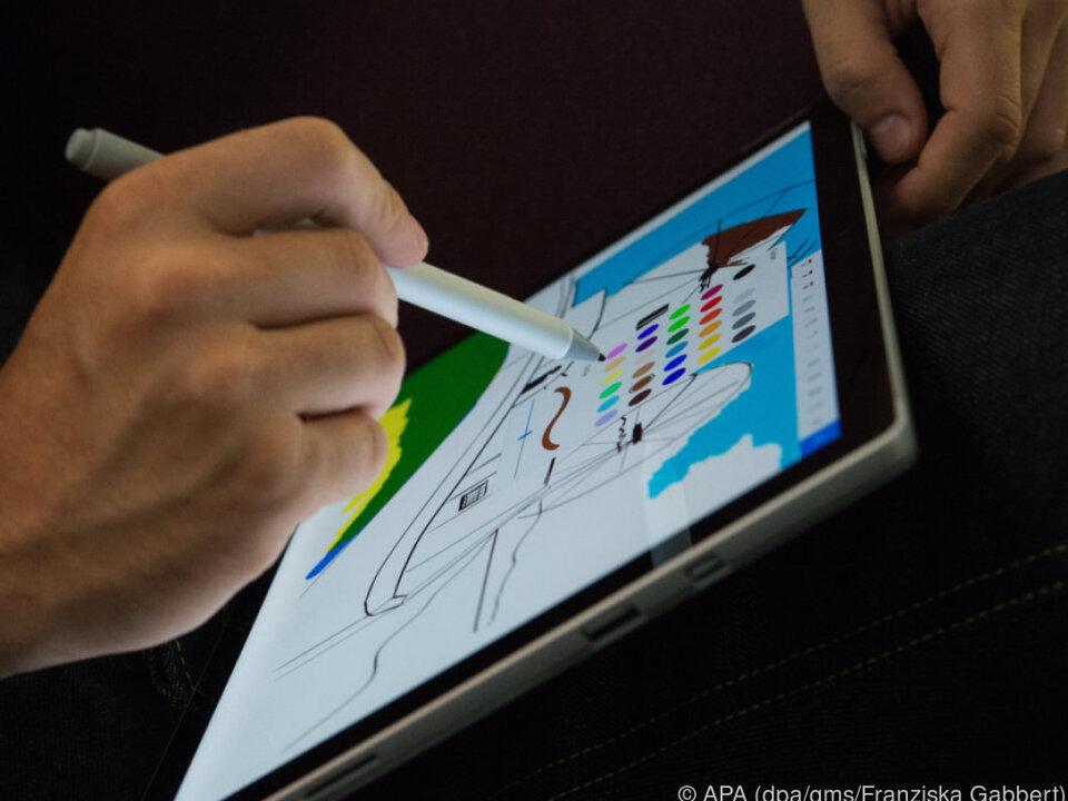 Kreative Nutzer können mit dem Surface Pen kleine Kunstwerke erschaffen