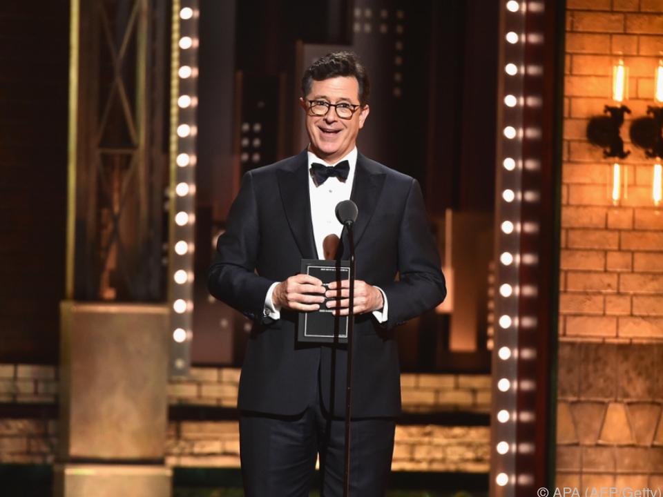 Emmy-Host Stephen Colbert brilliert fast täglich als Trump-Kritiker