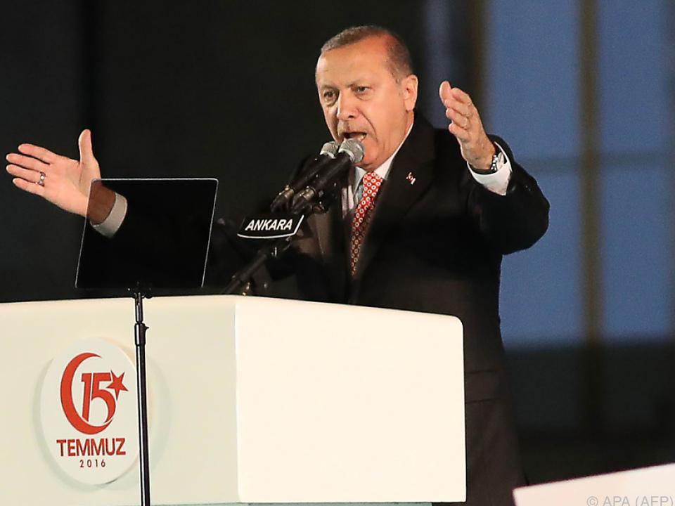 Erdogan wetterte wieder gegen Deutschland
