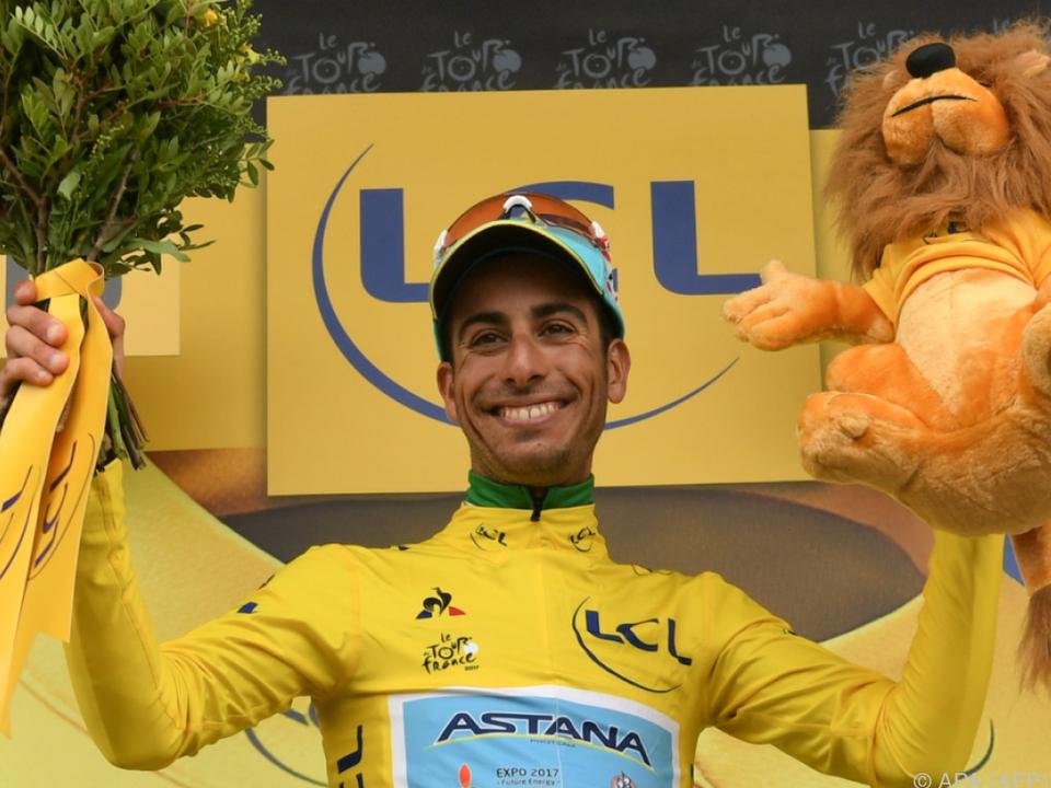 Fabio Aru holte sich als Etappendritter die Gesamtführung