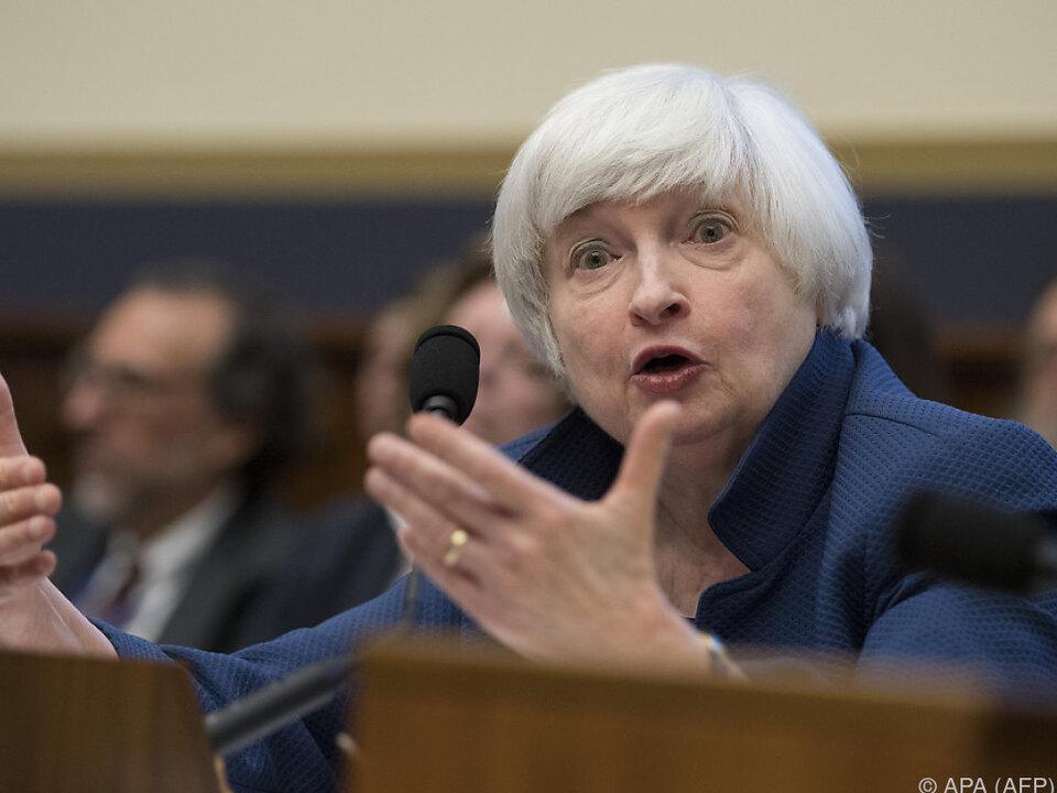Fed-Chefin Yellen behält die Inflation im Blick