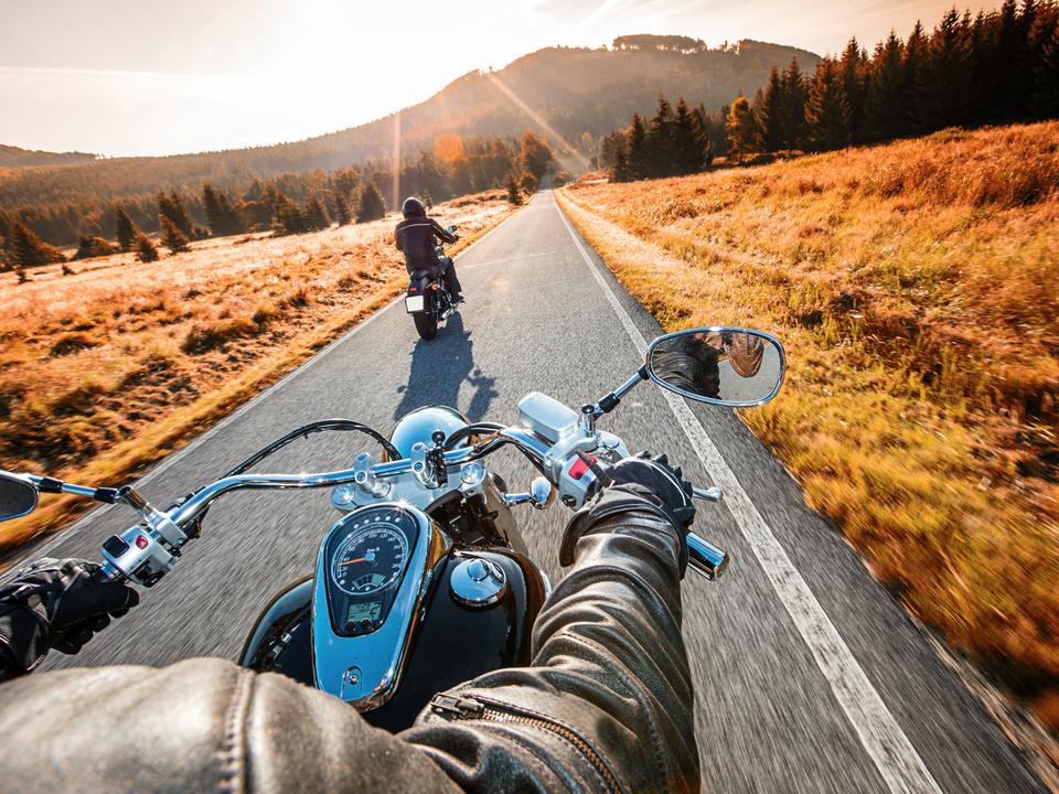 Biker Motorrad gemütlich Harley Davidson