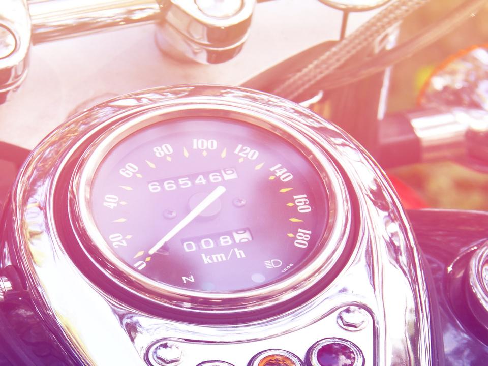 Motorrad Geschwindigkeitsmesser