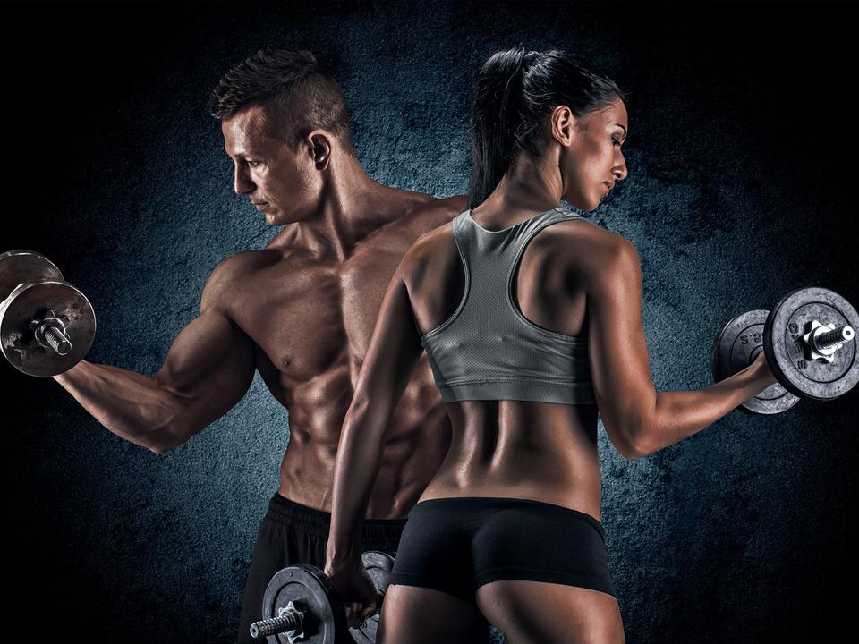 sport sportlich training muskeln vital gesund symbol