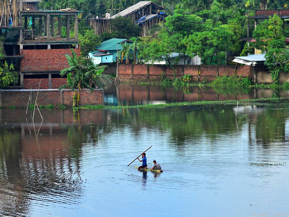 Große Landesteile sind unter Wasser