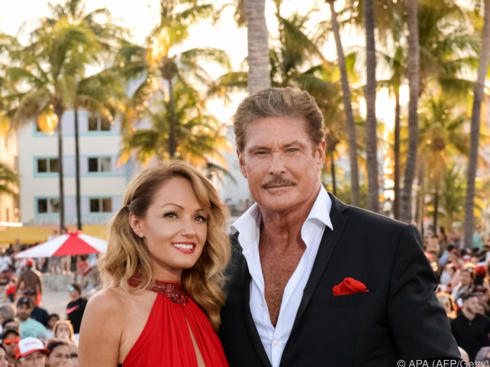 Hasselhoff und seine Verlobte Hayley Roberts