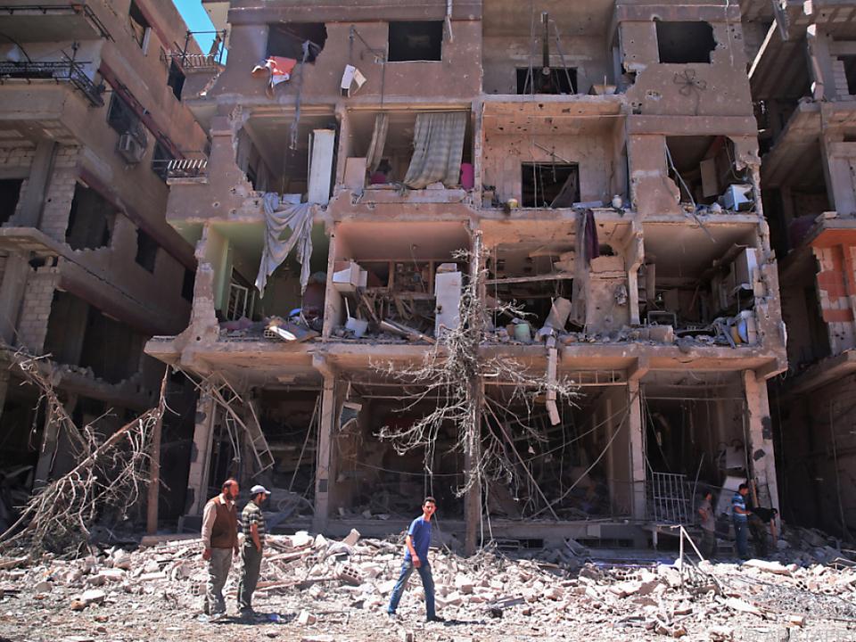 In Damaskus herrscht Zerstörung