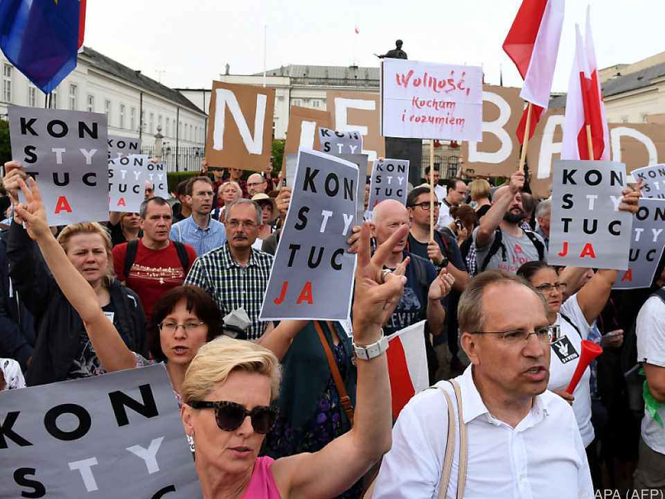 In Polen wird gegen das Gesetz demonstriert