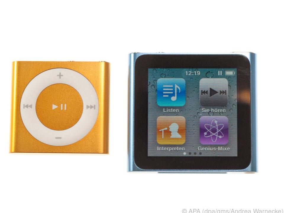 iPod shuffle (li.) und iPod nano (re.) verabschieden sich