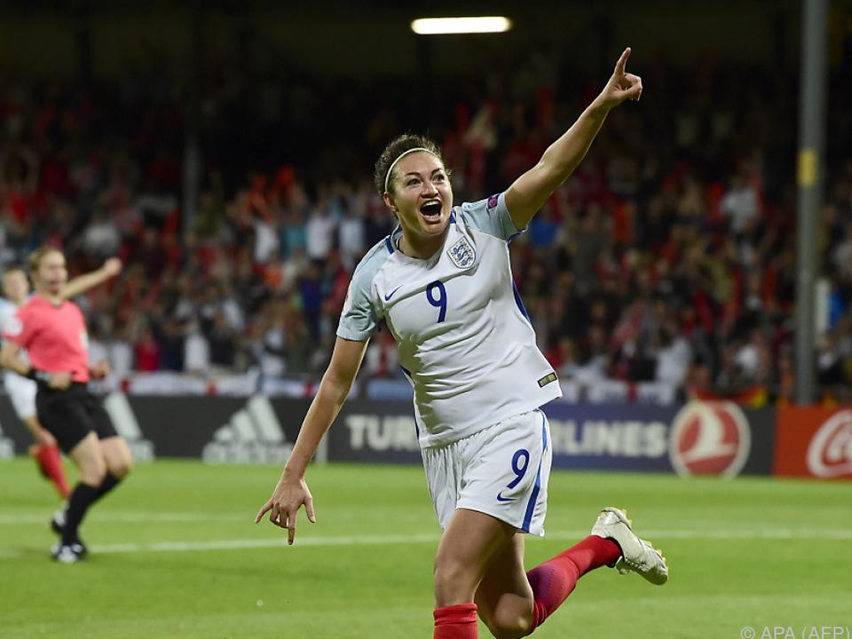 Jodie Taylor bejubelt ihren Treffer
