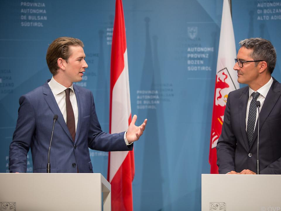 Kurz mit Südtirols Landeshauptmann Kompatscher