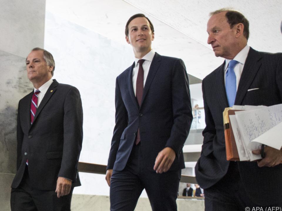 Kushner sagte vor dem Geheimdienstausschuss des Senats aus