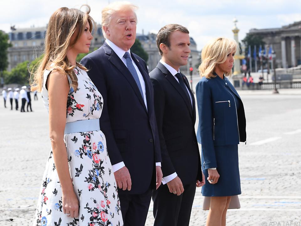 Trump bei Militärparade zu französischem Nationalfeiertag in Paris