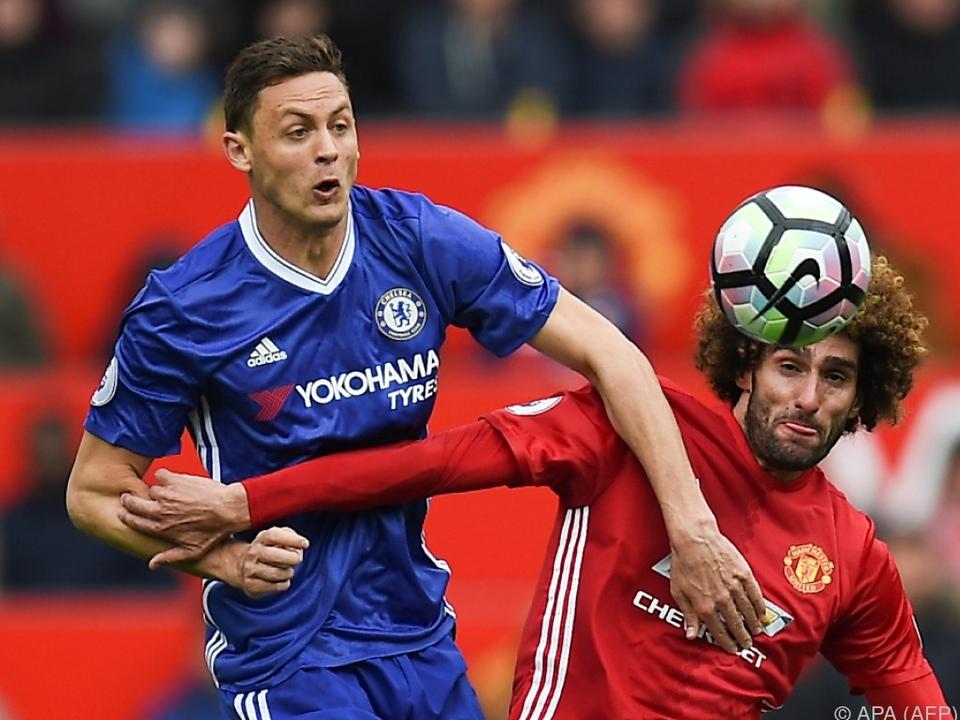 Matic (li.) wurde bei Manchester United gesichtet