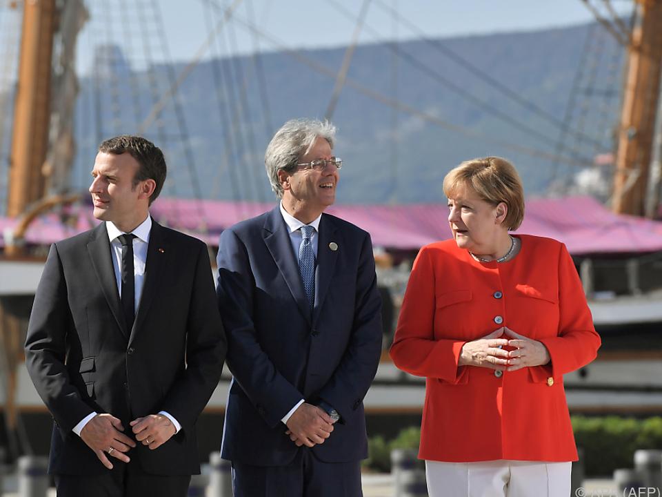 Merkel lobte Italien in den höchsten Tönen