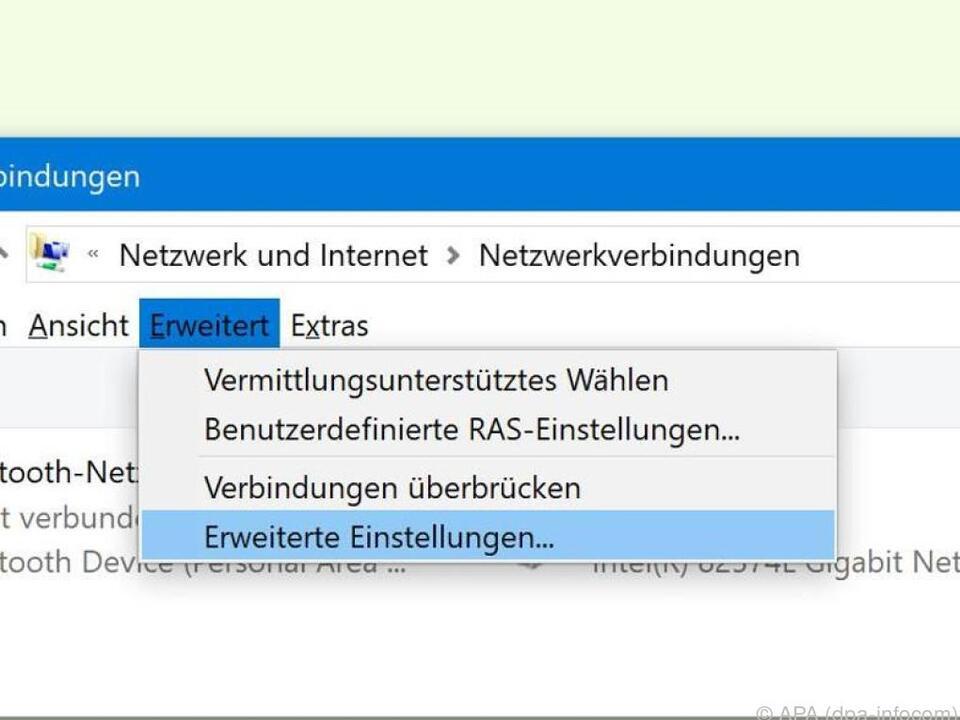 Mit wenigen Klicks wird Ethernet als bevorzugtes Netzwerk eingestellt