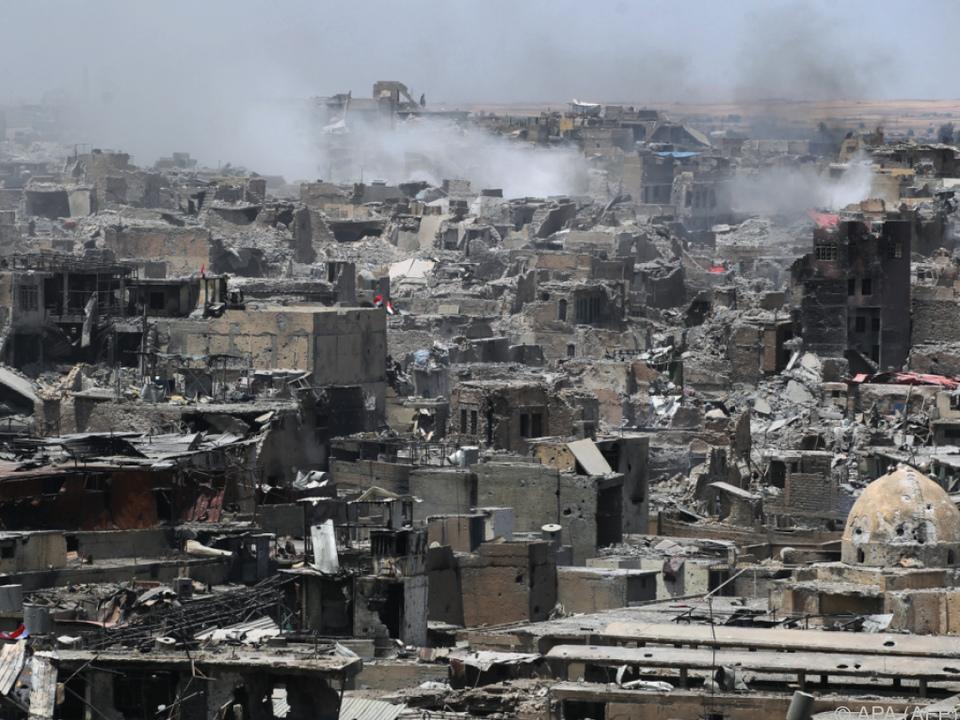 Mosul ist großteils zerstört, aber offenbar befreit